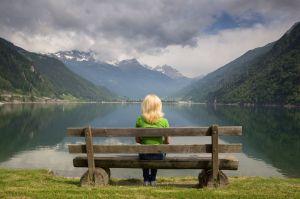 woman in solitude