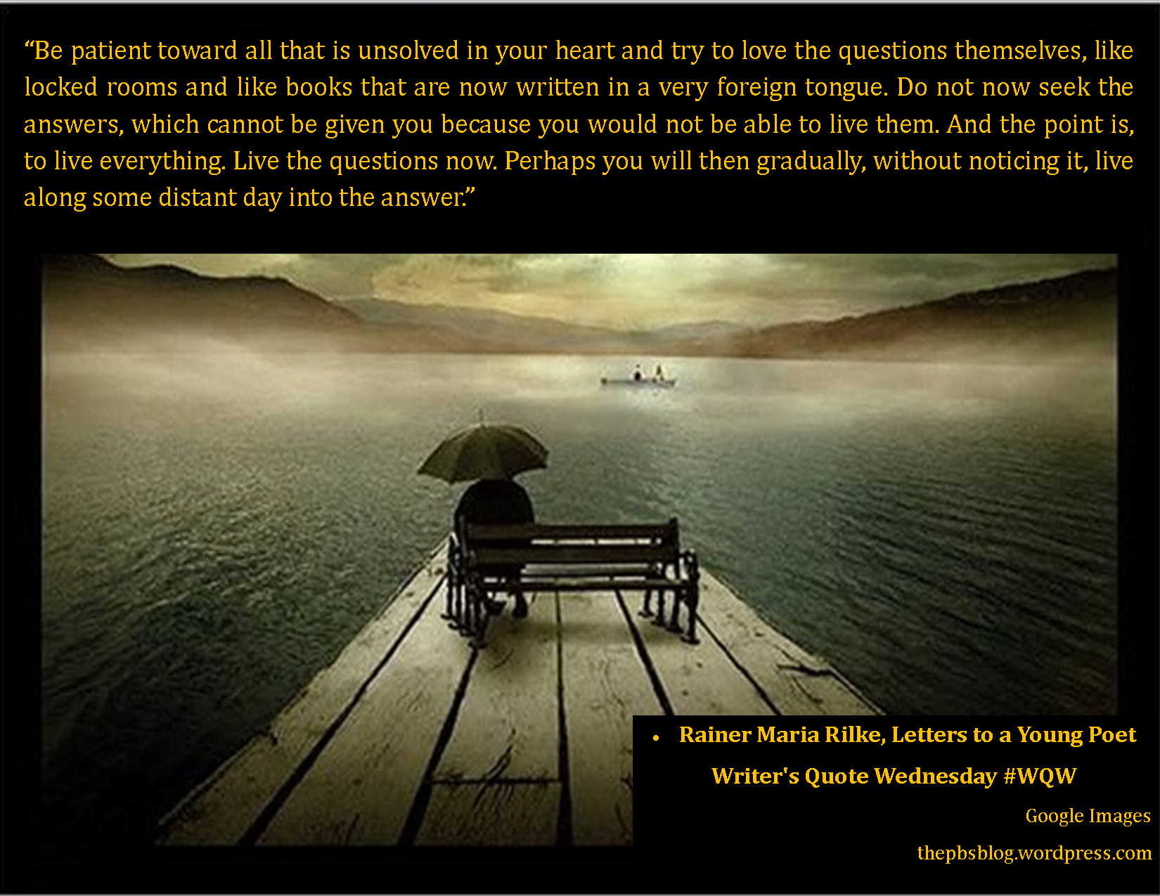 Writer\'s Quote Wednesday – Rainer Maria Rilke – The PBS Blog