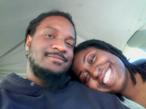 Circa: 2012, me and Hubby on the way to New Orleans to port for our 7 day Cruise