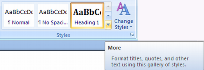 styles MS Word