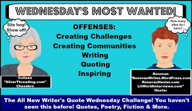 Writer's Quote Wednesday Writing Challenge