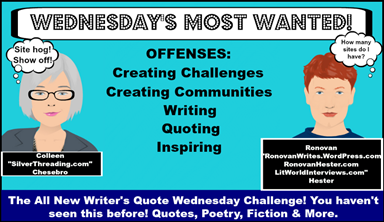 Writer's Quote Wednesday Writing Challenge