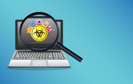 54462821 - laptop infected virus computer
