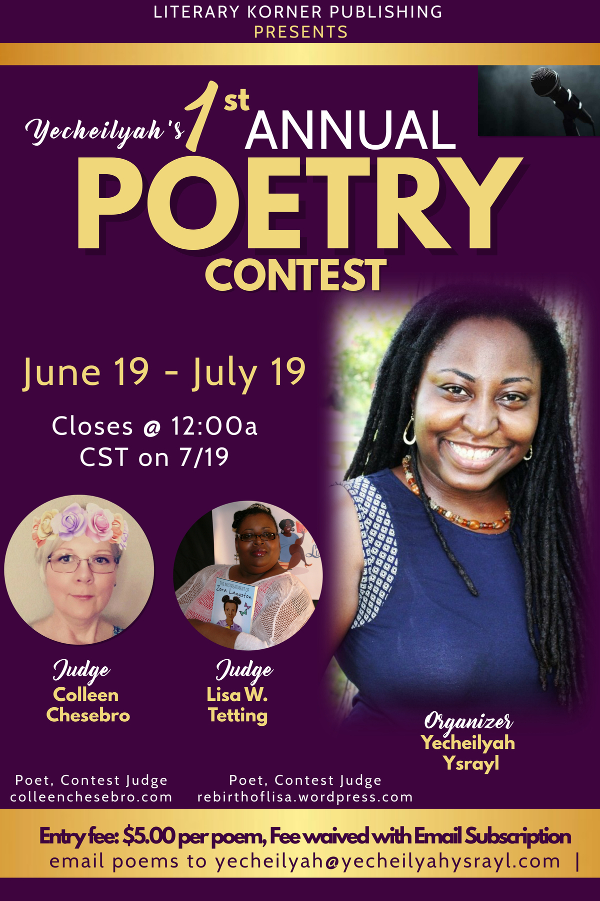 Teens poetry contest