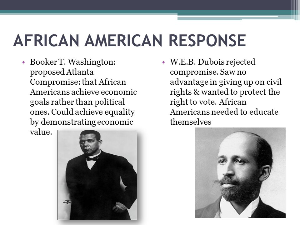 booker t washington and web dubois compare and contrast